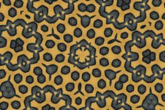 Texture noire d'hexagone sur le fond brun Image libre de droits