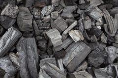 Texture noire de charbons Photo libre de droits