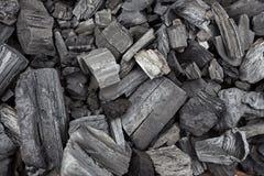 Texture noire de charbons Image libre de droits