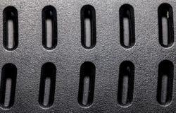 Texture noire de fente Photo libre de droits