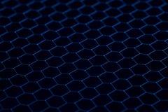 Texture noire de grille de fer Fond industriel Images libres de droits