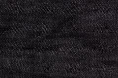 Texture noire de jeans de denim pour la conception graphique Photographie stock