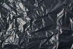 Texture noire de sac de déchets image libre de droits