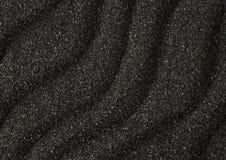 Texture noire de vagues de sable comme fond Images libres de droits