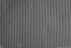 Texture noire et blanche de carton ondulé Photographie stock