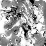 Texture noire et blanche de marbre décorative Peinture abstraite Fond à la mode pour l'impression et les sites Web exceptionnel Photos stock