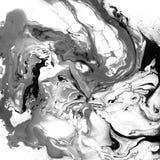Texture noire et blanche de marbre décorative Peinture abstraite Fond à la mode pour l'impression et les sites Web exceptionnel Image libre de droits