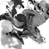 Texture noire et blanche de marbre décorative Peinture abstraite Fond à la mode pour l'impression et les sites Web exceptionnel Images stock