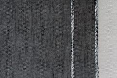 Texture noire et blanche de tissu de couleur de plan rapproché Photo libre de droits