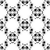 Texture noire et blanche sans couture décorative classique images stock