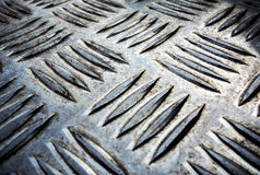Texture of non slip metal plate Stock Photo