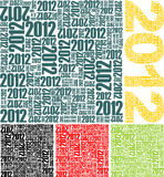 Texture with a number of 2012. Set of vector textures with the number 2012 stock illustration