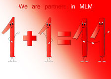 Texture of numbers in MLM Stock Photo