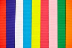 Texture o contexto com diversas tiras coloridas diferentes do corrug Imagem de Stock