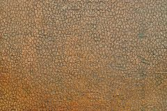 Texture o couro velho com um carimbo da cor marrom Fotos de Stock Royalty Free