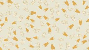 Texture o teste padrão sem emenda de muitos vidros coloridos das canecas com cerveja pilsen escura espumoso da luz fria da cervej ilustração stock