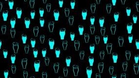 Texture o teste padrão sem emenda de muitos vidros coloridos das canecas com cerveja pilsen escura espumoso da luz fria da cervej ilustração royalty free