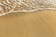 Free Texture Of Beach Sea Sand With A Soft Wave Of Surf. Summer. Stock Photos - 52094623