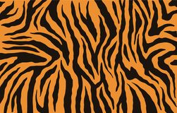 Free Texture Of Bengal Tiger Fur, Orange Stripes Pattern. Animal Skin Print. Safari Background. Vector Royalty Free Stock Photos - 123501188