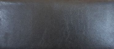 Texture Of Black Leather Stock Image