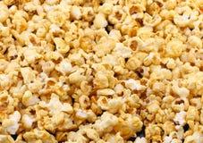 Texture Of Caramel Popcorn. Close-up. Stock Image