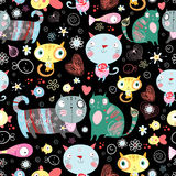 Texture Of Cat Lovers Stock Images