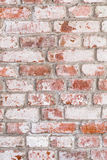 Texture Of Old Rustic Brick Wall Painted With White Stock Photo