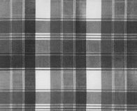Texture Of Plaid Fabric Stock Image