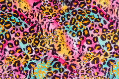 Texture Of Print Fabric Striped Leopard Stock Photography