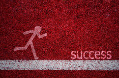 Texture Of Running Track Stock Image