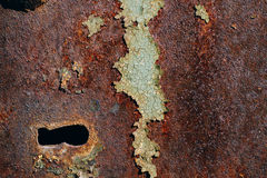 Free Texture Of Rusty Iron, Cracked Green Paint On An Old Metallic Surface, Metal Surface With A Bolt And A Keyhole Royalty Free Stock Images - 99177279