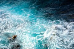 Texture Of Sea Waves. Natural Water Background Stock Photography