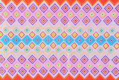 Texture Of Thai Silk Pattern Stock Photo