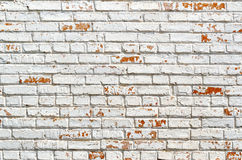Texture Of The Old Brick, Painted In White Royalty Free Stock Images