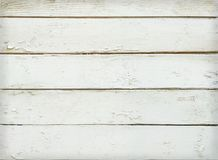 Texture Of White Wooden Planks Stock Photography