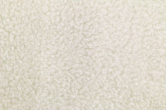 Texture of Off white heat retaining fleece textile Royalty Free Stock Photo