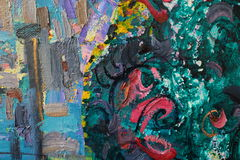 Texture of oil painting , author painting Roman Nogin. Texture of oil painting. author painting Roman Nogin stock images