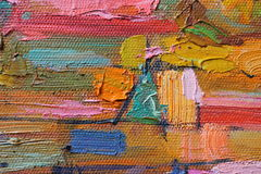 Texture oil painting. author painting Roman Nogin. Royalty Free Stock Image