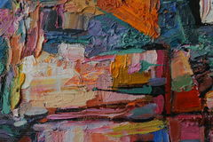 Texture oil painting. author painting Roman Nogin. Stock Photo