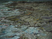 Texture of oil painting , author painting Roman Nogin abstract painting Stock Photo