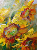 Texture oil painting, flowers, art, painted color image, paint, Royalty Free Stock Images