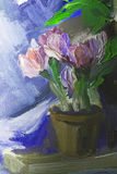 Texture oil painting, flowers, art, painted color image, paint Stock Photo