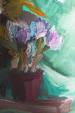 Texture oil painting, flowers, art, painted color image, paint Royalty Free Stock Image