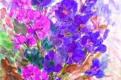 Texture oil painting flowers, painting vivid flowers, flora Stock Photo