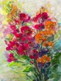 Texture oil painting flowers, painting vivid flowers, flora Stock Photos