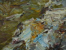 Texture oil painting, painting author Roman Nogin Royalty Free Stock Images