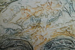 Texture of oil painting relief strokes, canvas Royalty Free Stock Photo