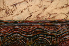 Texture of oil painting relief strokes, canvas Royalty Free Stock Photos