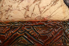 Texture of oil painting relief strokes, canvas Royalty Free Stock Image