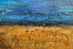 Texture of oil painting relief strokes, canvas Royalty Free Stock Images